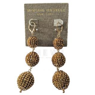 Miriam Haskell Beaded Sphere-Drop earrings