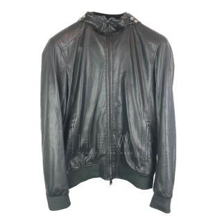 Armani Jeans black hooded zip-through jacket