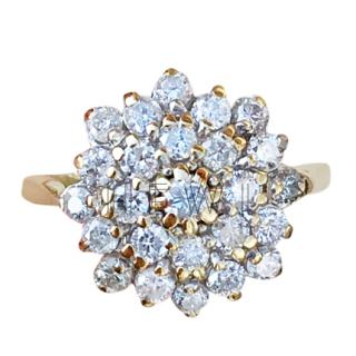 Bespoke diamond-encrusted 18ct gold ring
