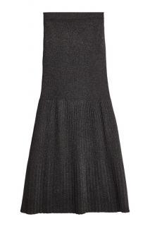 Missoni Black Pleated Metallic Knitted Skirt