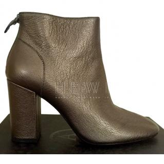 Ash block-heel leather ankle boots