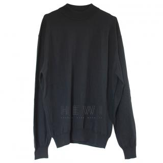 Boss Hugo Boss black funnel-neck wool sweater