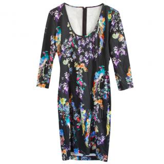 Just Cavalli scoop-neck floral-print bodycon dress