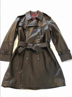 Mulberry soft brown leather trench coat