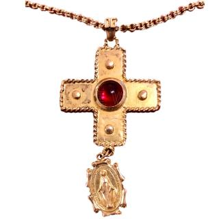 Dolce & Gabbana crucifix and Madonna pendant and chain