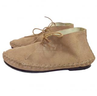 acne Suede Moccasin Booties