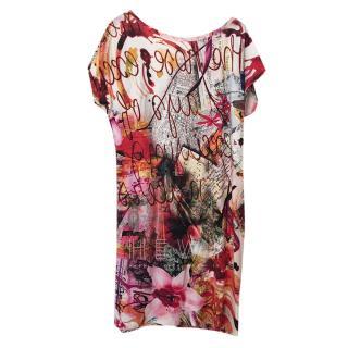 St Lova Printed Mini Dress