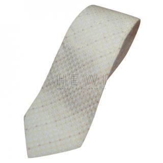 Boss Hugo Boss Yellow Silk Printed Tie