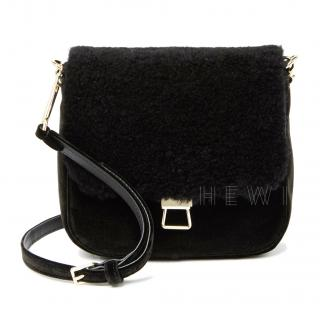 Theory Perry Fur Saddle Bag