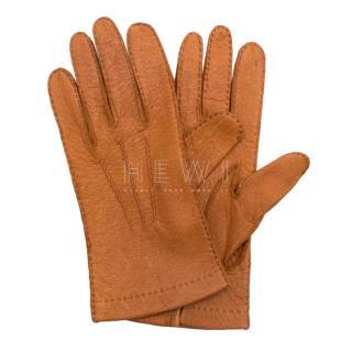 Bespoke Tan Leather Gloves