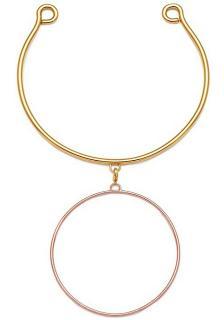 Maria Francesca Pepe hoops I did it again necklace
