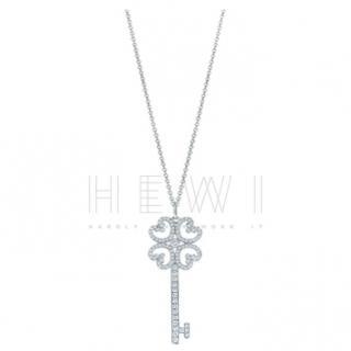Tiffany & Co. Quatra Heart Key diamond-encrusted necklace