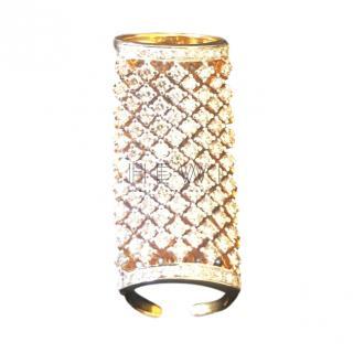 Amrapali diamond-encrusted 18ct gold ring