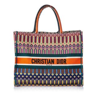 Christian Dior Multicolored Canvas Book Tote