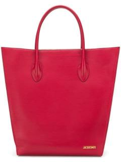 Jacquemus Le Baya Red Leather Tote Bag