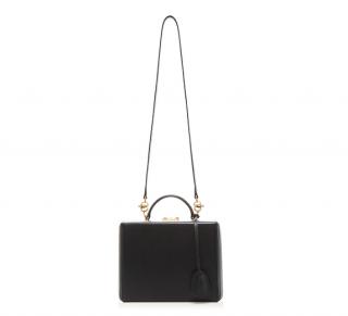 Mark Cross Grace medium black leather box bag