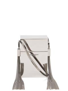 Saint Laurent Silver Mirror Minaudiere Smoking Box