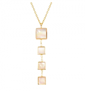 La Vians Lariat drop-pendant gold necklace