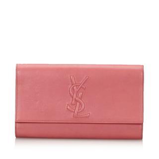 YSL Leather Belle du Jour Clutch Bag