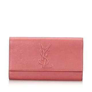 YSL Leather Belle du Jour Clutch Bag