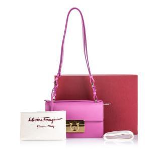 Salvatore Ferragamo Pink Leather Aileen Shoulder Bag