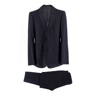 Boss Hugo Boss Virgin Wool Navy Birds Eye Blue Suit