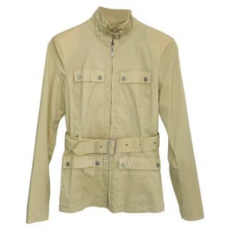 Belstaff belted beige field jacket