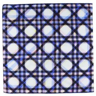 Dior Cannage-print silk-chiffon scarf