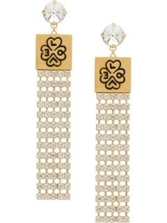 Miu Miu Love crystal-tassel earrings