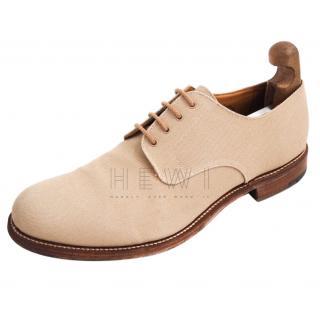 Church's Custom Grade beige suede Oxfords shoes