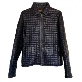 Loro Piana quilted leather jacket