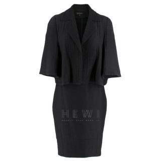 Escada Black Textured Jacket & Skirt