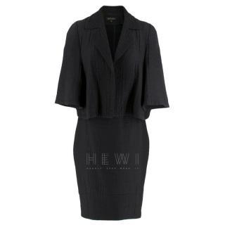 Escada Black Textured Jacket & Skirt