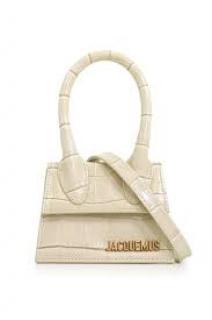 Jacquemus le Chiquito white croc-effect bag