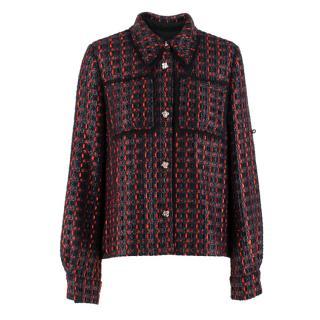 Sonia Rykiel point-collar tweed jacket