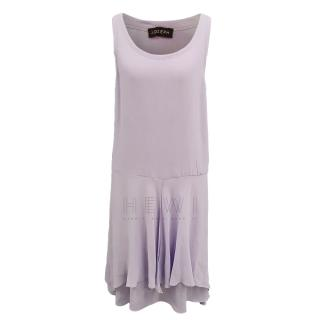 Joseph scoop-neck lilac dress