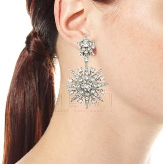 Oscar de la Renta crystal star-drop earrings