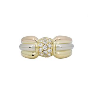Cartier White Gold & Pink Gold Trinity Ring