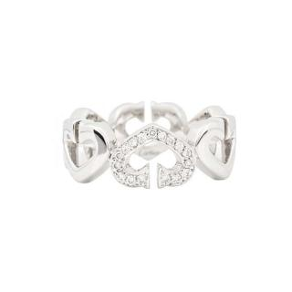 Cartier White Gold Pave Heart Ring