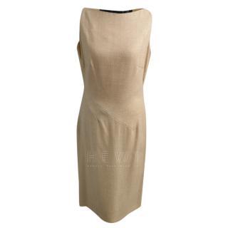 Amanda Wakeley Beige Wool Dress
