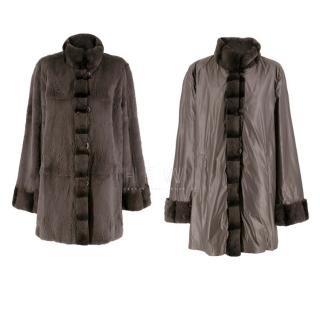 Basler Luxurious Reversible Waterproof Long Fur Coat
