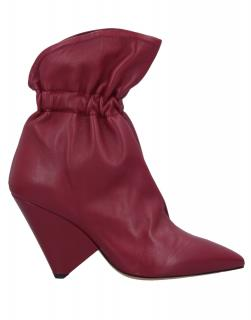 Isabel Marant Lilas Burgundy soft leather ankle boots