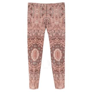 Etro Paisley-Print Pink Trousers