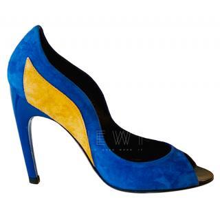 Roger Vivier electric blue suede pumps
