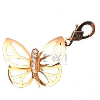 Van Cleef & Arpels 0.16ct Diamond Yellow Gold Butterfly Pendant