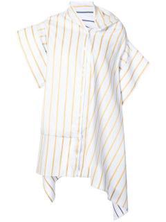 Palmer//Harding Off-Shoulder Reversible Shirt