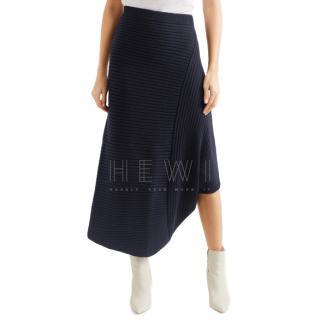 JW Anderson Infinity ribbed merino wool skirt