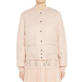 Givenchy Pale Pink Wool Bomber Jacket