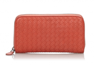 Bottega Veneta Intrecciato Zip Around Wallet