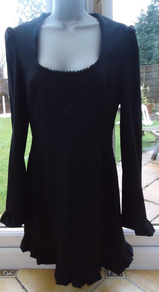 NEW- wool black dress